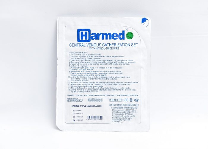 Harmed Central Venous Catherization Set / Single, Double and Triple lumen